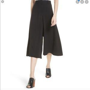 Theory Black Wide Legged Culotte Pant